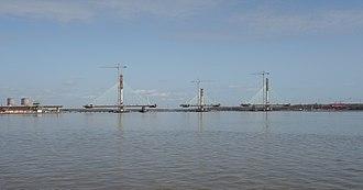 Mersey Gateway Bridge - The bridge under construction