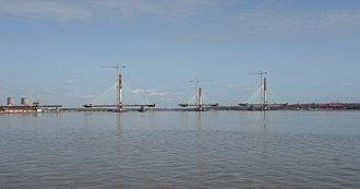 Mersey Gateway - Image: Mersey Gateway in construction 2017 03 15