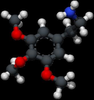 Mescaline - Image: Mescaline 3D xray ballstick