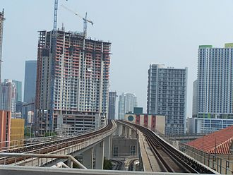 Metrorail (Miami-Dade County) - With the growth of Miami, Miami-Dade Transit ridership increased to an all-time high during the real estate bubble of the 2000s, and again in the 2010s.