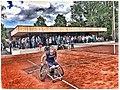 Michaela Spaanstra sweeping the tenniscourt.jpg