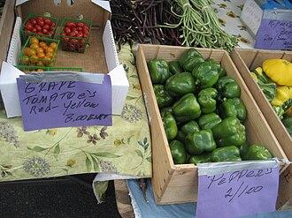 Grape tomato - Grape tomatoes at a farmer's market