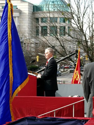 Mike Easley - Easley speaking at his second inauguration, 2005
