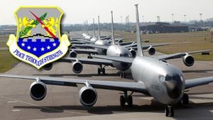 100th Air Refueling Wing - 100 ARW KC-135s lined up on the taxiway at RAF Mildenhall