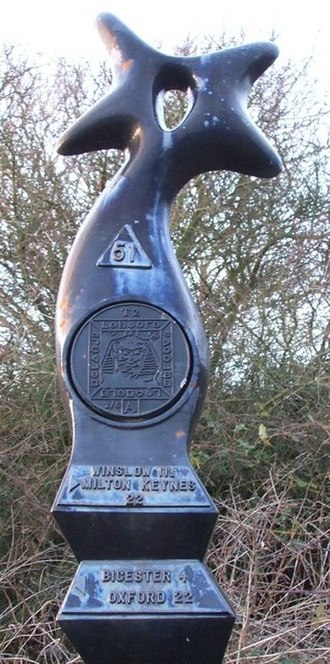 National Cycle Network - Millennium Milepost - Close-up (top) - geograph.org.uk - 303741