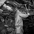 Miners pull down an unstable roof.jpg