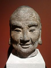 Head of a Buddhist monk