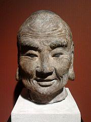 Head of a Buddhist monk