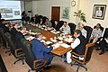 Minister Maritime Ali Haider Zaidi chairs meeting on Blue Economy. Federal Secretary Rizwan Ahmed, Vice Chief of Naval Staff Admiral Kaleem Shaukat and other senior officers attend the meeting.jpg