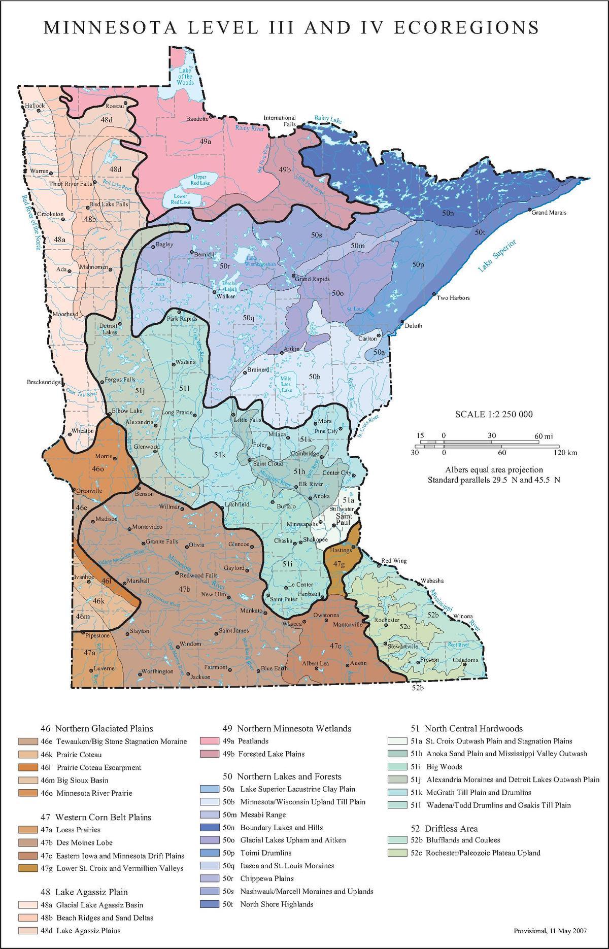 List Of Ecoregions In Minnesota Wikipedia - Minn map