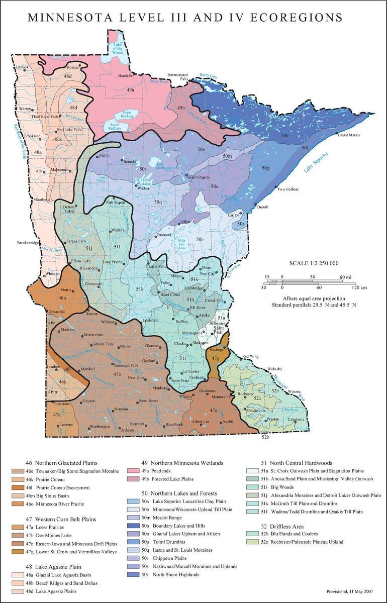 List of ecoregions in Minnesota
