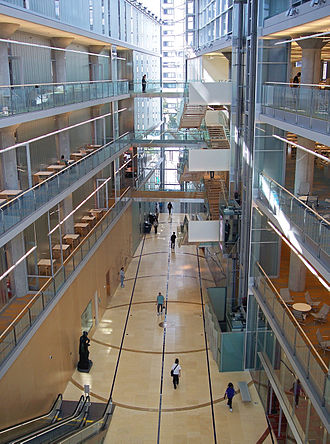 Minneapolis Public Library - The atrium of the Central Library