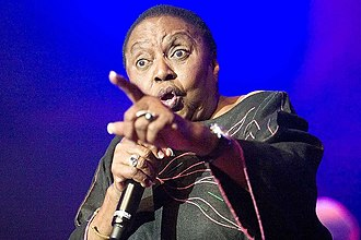 Music of Africa - Miriam Makeba during a performance