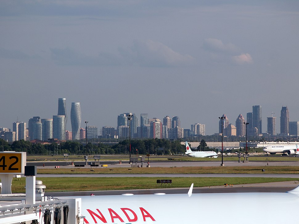 Mississauga skyline from Pearson