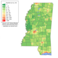 Mississippi population map.png