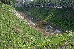 Mito Castle - Mito Castle moat.