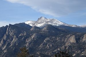 Mummy Mountain (Colorado) - Mummy Mountain from Estes Park, Colorado.