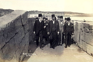 Adly Yakan Pasha - Adly Yakan at the opening of the Luxor-Aswan rail line