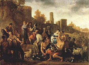 Moeyaert, Claes Cornelisz. - Moses Ordering the Slaughter of the Midianitic - 1650.jpg