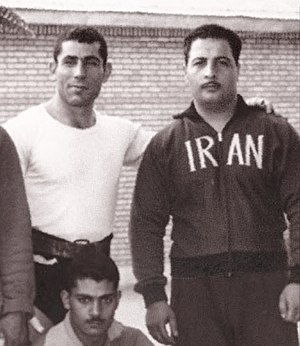 Hassan Ferdos - Ferdos (right) in 1960