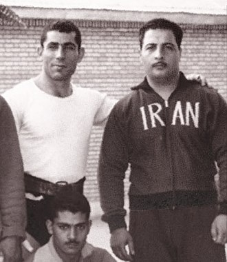 Hassan Ferdos - Ferdos (right) in 1960