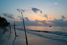 Mombasa beach sunrise