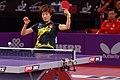 Mondial Ping -Women's Singles - Quarterfinal - Ding Ning-Ri Myong Sun - 02.jpg