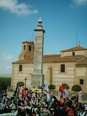 Battle of Villalar - A floral offering at Villalar, on Castile and León Day, April 23, 2006.