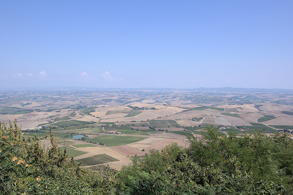 View on the Val d'Orcia from Montalcino