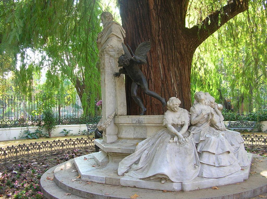 Monument à Becquer dans la parque Maria Luisa de Séville en Espagne - Photo de Gregory Zeier