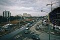 Moscow, construction of Baltiyskaya MCC station and Metropolis mall (16594300198).jpg