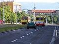 Most, tř. Budovatelů, od Centrálu k severu, tramvaj a autobus.jpg