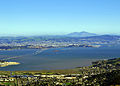 Mount Diablo in with San Francisco Bay and Richmond–San Rafael Bridge.JPG