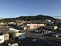 Mount Furosan from overpass on west side of Matsuura Station.jpg