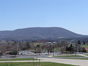 College Township, Centre County, Pennsylvania - Mount Nittany and College Township as viewed from the Bryce Jordan Center on the campus of Penn State
