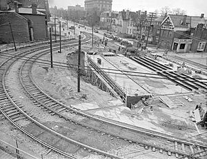 Mount Pleasant Road - Despite opposition by the TTC, an underpass was constructed at Bloor Street