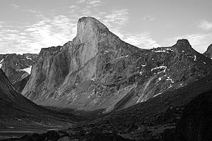 At more than 1 kilometre in height, Mt. Thor i...