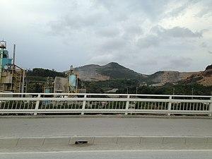 Mount Yae - Mount Yaedake from Japan National Route 449 in Awa, Nago, Okinawa.