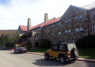 Mountain Lake (Virginia) - Photo of the north facade of the main building of the  Mountain Lake Lodge in October 2013.