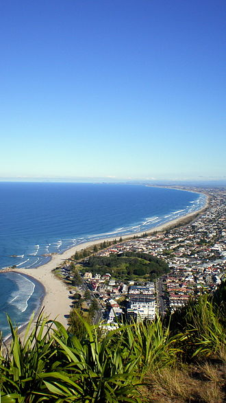 Mount Maunganui - View from the summit of Mount Maunganui (Mauao).