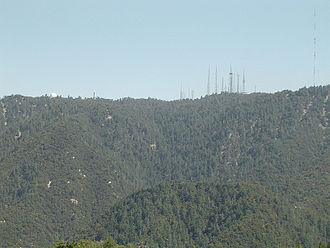 Mount Wilson (California) - The north slope of Mount Wilson as seen from Angeles Crest Highway