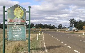 Mullaley, New South Wales - Entry sign to Mullaley, NSW
