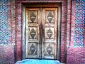 Multan - Mosque at the Tomb of Shah Rukn-e-Alam - Traditional Wooden Door.jpg