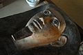 Mummy-mask - Egyptian Human Mummy - Egyptian Gallery - Indian Museum - Kolkata 2014-04-04 4423.JPG