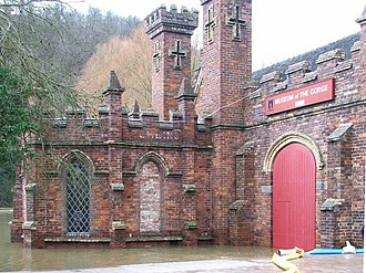 Museum of the Gorge, Ironbridge - Flooding in 2008