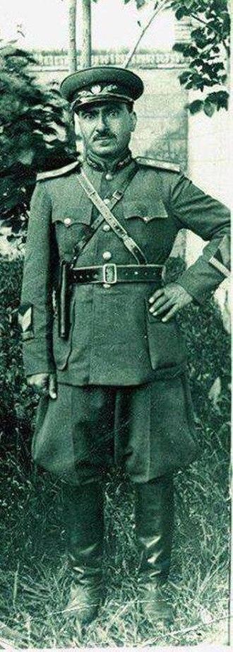 Mustafa Barzani - Image: Mustafa Barzani as Military commander in Mahabad in 1947