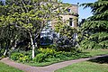 Myddelton House, Enfield, London ~ conservatory and flower bed 04.jpg