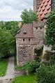 Nürnberg, Stadtmauer, Streichwehr am Fünfeckturm, 002.jpg