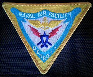 Selfridge Air National Guard Base - A patch (and the insignia) of the Naval Air Facility Detroit