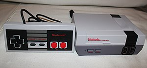 NES Classic Edition with controller